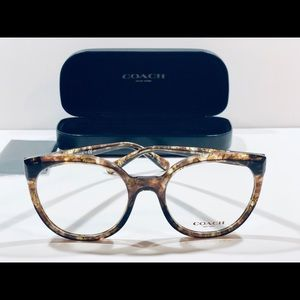 COACH Eyeglasses Brown Tortoise Cat Eye Frame New